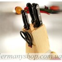 Набор ножей Tiross TS-1286 на деревянной подставке