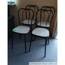 Набор металлических стульев (4 штуки)